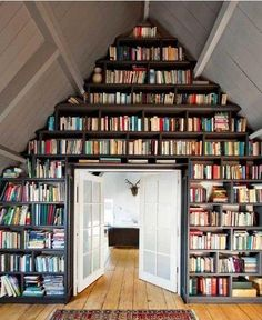 books, houses, bookcases, home libraries, dreams, attic spaces, shelves, ceilings, homes