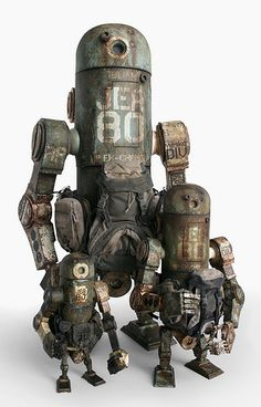 World War Robot Toys by ThreeA, shots of the WWR and WWRp JEA Marine MK3 Berties and the Marine JEA Mk2 Bertie.