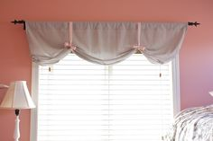 Valance With A Ribbon - on a tension rod