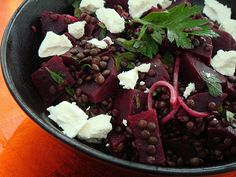 Salad Of Beets, Lentils, Goat Cheese