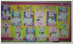 Hoppy Easter Bunny Bulletin Board