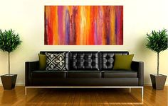 Art Acrylic Abstract Painting on Canvas Titled by OraBirenbaumArt