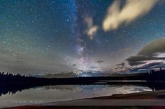 Gorgeous shot: The Milky Way over Lake Annette in Jasper National Park, Alberta, a Dark Sky Preserve, on October 24, 2014. Credit and copyright: Alan Dyer/Amazing Sky Photography.