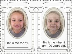 "It's the 100th Day of School! FREEBIE template you can use. Create this effect using an app called ""oldster"" for your 100th Day activities! What a great idea!!!"
