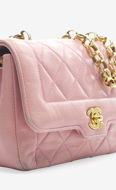 Chanel Pink Lambskin Vintage Mini Flap. Love this color