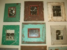 weathered picture frames picture frames, frame idea, pictur frame