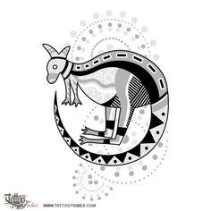 Aboriginal kangaroo tattoo