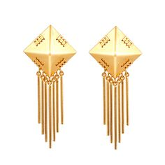 {Gina Earrings} gorgeous art deco-influenced design.