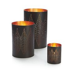 Copper Leaf Hurricanes   Crate and Barrel