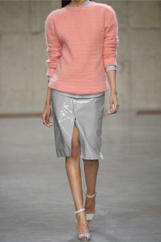 Richard Nicoll Patent-leather and jersey skirt NET-A-PORTER.COM