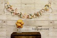 Scrap Fabric and Twine Banner