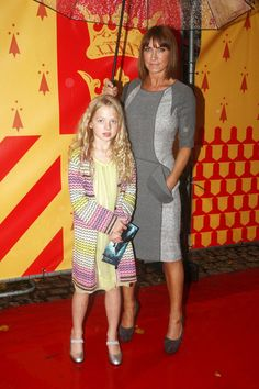 Anaïs Gallagher (Noel Gallagher's daughter) with mom Meg Mathews at the cinema