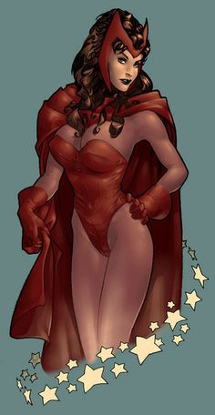 Scarlet Witch by Adam Hughes.