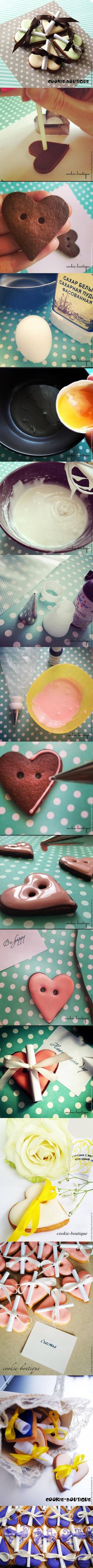 DIY Heart Cookie Messages