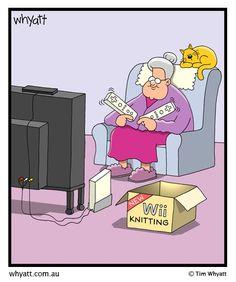 video games, retir plan, wii knit, comic strips