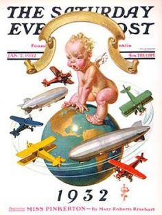 J.C. Leyendecker, 1932 New Year's baby.