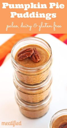 Paleo Pumpkin Pie Pudding from http://meatified.com. #paleo #glutenfree #gelatin #pumpkin
