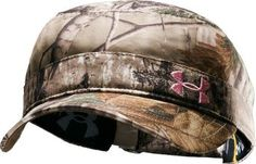 I have this hat...my favorite bow hunting cap!  Cabela's: Under Armour® Women's Military Cap