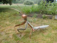 Praying Mantis of epic style by Copperhammer on Etsy, $545.00