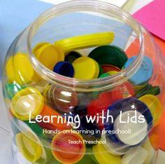 Learning with lids in preschool