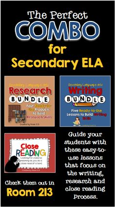 If you're teaching secondary ELA, this is the perfect combo of products. Lessons that focus on the writing, research and close reading process.