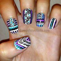 Tribal Fringe Nails