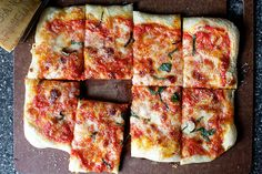 A recipe for easy homemade pizza.
