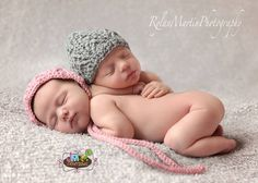 Set of 2 Crochet Patterns for Unisex Arrowhead Baby Bonnet & Beanie Hat - Multiple Sizes - Welcome to sell finished items