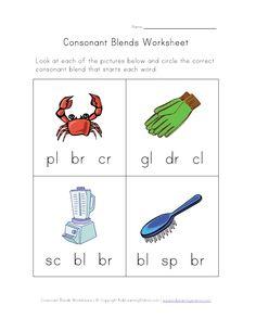 consonant blends worksheet two