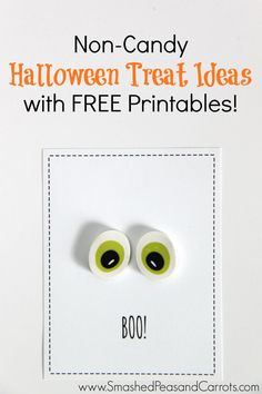 Super Cute Non-Candy Halloween Treats and they come with a FREE Printable!!! These would be perfect for school parties!