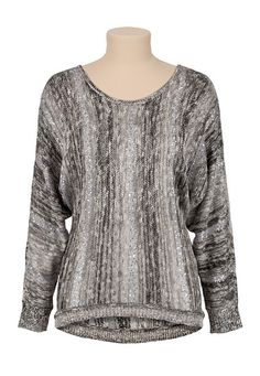 High-Low Ombre Sweater with sequins (original price, $39) available at #Maurices