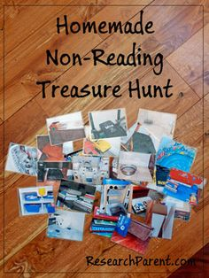 Homemade Non-Reading Treasure Hunt - Fun Activity for Preschoolers and Kindergarteners Who Can't Yet Read - ResearchParent.com