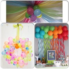 Birthday Party Balloon Drop Image Inspiration of Cake and Birthday