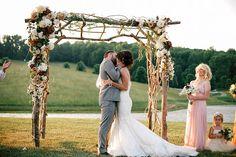 wood + floral arbor   Andrew Allen Morton #wedding