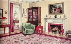 1929 Modern Traditional Living Room by American Vintage Home, via Flickr