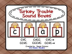 Turkey Trouble Sound Boxes FREEBIE
