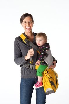this is GENIUS...diaper bag and baby carrier in one. #aubreyturley