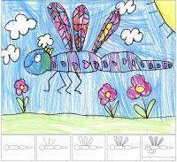 Art Projects for Kids: drawing dragon fli, dragonfly art, drawings, dragonfli, school, art lesson, kid art, kids, art projects