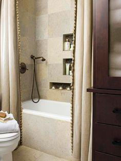 I love this bathroom with its subtle colour palette.