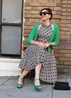 Vintage gingham and polka dots