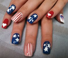 Stars and Stripes by aliciarock from Nail Art Gallery