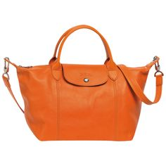 Longchamp Le Pliage Cuir - Small - Orange - £290