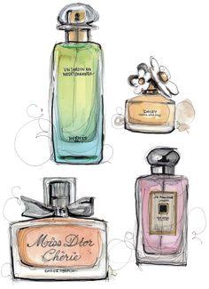 Perfume Illustration.