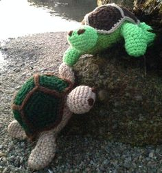Crochet Turtle Pattern by AbbottsDesigns on Etsy, $7.50  any money she makes from selling these patterns goes directly to rescuing girls from human trafficking. So go buy the pattern already--if you do that crochet-type crafty stuff. (Or maybe even if you don't!)