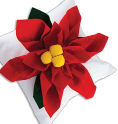 New Image Group Poinsettia  Pillow #christmas #craft