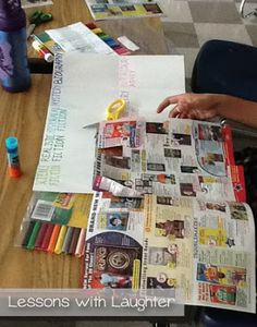 Genre Posters - students make their own to reinforce understanding of essential elements of each genre. This is an excellent idea--could do the same thing w/ types of writing (expository, argumentative, etc.)