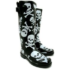 £19.99 NEW WOMENS SKULL AND CROSSBONE CALF BUCKLE FLAT WELLINGTON KNEE HIGH BOOTS SIZE | eBay