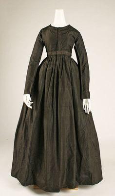 Dress  ca. 1840  American  silk