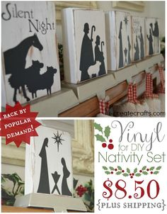 Vinyl for Nativity Set (back by popular demand) -perfect for Super Saturdays or Craft GNO'S