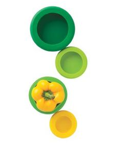 Food Huggers: Need just half a pepper, lemon, or lime? Place the leftover part into one of these cozy silicone food huggers, then stow in the refrigerator.
